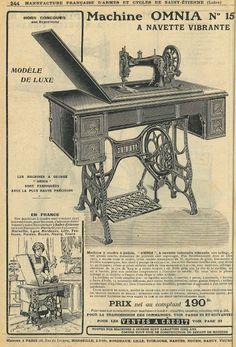 """Le Blog de Callisto: Catalogue des machines à coudre """"Omnia"""", Manufrance, Saint-Etienne, 1912 (1/2) ^^"""