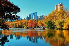 O Central Park é considerado uma das principais atrações da cidade e isso independe da época ou estação do ano. No entanto, no outono ele ganha uma coloração única e super diferente. Não há quem não se encante com a cor alaranjada do parque mais famoso da cidade.