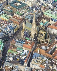 Stephansdom from above, Wien, Austria. City From Above, Monuments, Heart Of Europe, Austria Travel, Beautiful Places To Visit, Vienna, Budapest, Traveling By Yourself, European Travel