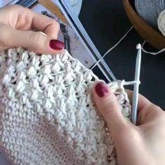 Ideia de croche com graficos Aprenda a fazer croche facil - Galatasaray Crochet Stitches Patterns, Knitting Stitches, Knitting Designs, Knitting Patterns, Crochet Home, Easy Crochet, Crochet Baby, Knit Crochet, Tunisian Crochet