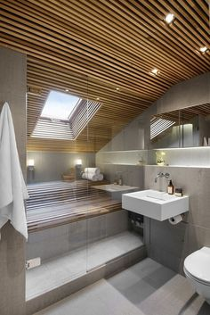 Modern Bathroom Have a nice week everyone! Today we bring you the topic: a modern bathroom. Do you know how to achieve the perfect bathroom decor? Modern Bathroom Design, Bathroom Interior Design, Modern House Design, Bathroom Designs, Home Design, Interior Ideas, Bad Inspiration, Bathroom Inspiration, House Ceiling Design