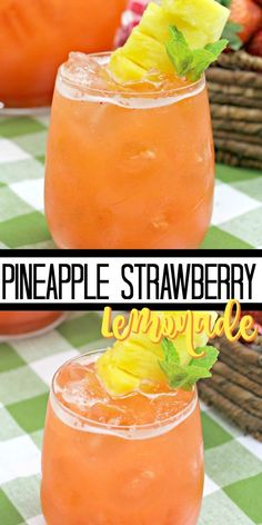 Drink recipes 158048268162097293 - Pineapple Strawberry Lemonade is the ultimate way to quench your thirst on a hot summer day. Sweet strawberries, tart lemons and fresh pineapples is all it takes to make this refreshing drink! Source by mariasmixingbowl Refreshing Summer Drinks, Fruity Drinks, Smoothie Drinks, Non Alcoholic Drinks, Fun Drinks, Yummy Drinks, Healthy Drinks, Dinner Smoothie, Smoothie Recipes