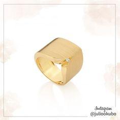 Anel em ouro amarelo, com diamante. Coleção Dias de Paz. Noites de Luz Julio Okubo. #jewellery #jewelry #handmade #pearls #perolas #diamonds #juliookubo #noivas #bridal #joiasparanoivas #luxury #iguatemisp #nosamamosperolas