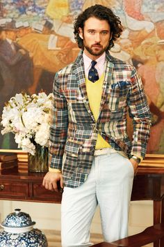 ~Patchwork plaids and madras pieces lend a vintage feel to Polo Ralph Lauren Spring 2013.