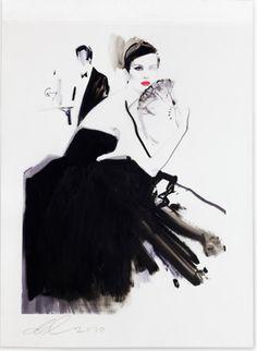 David Downton #fashionillustrations