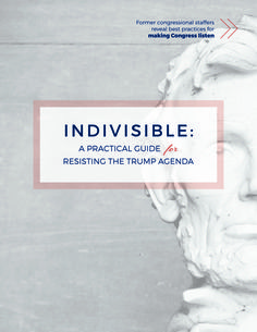 Indivisible: A Practical Guide for Resisting the Trump Agenda -- Former congressional staffers reveal best practices for making Congress listen. Read the guide online. Members Of Congress, Call To Action, Social Change, Trump, Social Justice, Encouragement, Wisdom, Thoughts, How To Plan