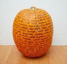 Thankful Pumpkin Tradition | One Artsy Mama