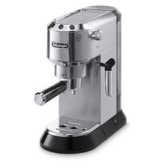 DeLonghi Stainless Steel Automatic Espresso Machine at Lowe's. The DeLonghi Dedica pump espresso machine offers a traditional espresso and cappuccino experience in a sleek ultra compact design crafted with skill and Best Home Espresso Machine, Machine A Cafe Expresso, Espresso Machine Reviews, Automatic Espresso Machine, Espresso Coffee Machine, Coffee Maker, Coffee Brewer, Coffee Coffee, Drip Coffee