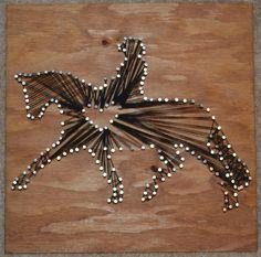 I Love Dressage String Art - FOR SALE