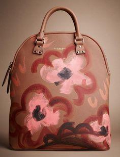 Burberry Bloomsbury Nubuck Hand-Painted Bag