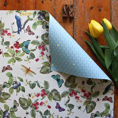 Double sided gift wrap - Forest Fruits / Arrows 3 Pack
