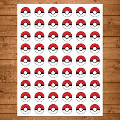 Pokemon Stickers Red & White Pokemon One by NineLivesNotEnough