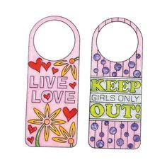 Girls Only! Sun Catcher Doorknob Hangers - OrientalTrading.com