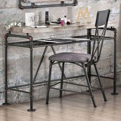 Furniture of America Revo Industrial Antique Black Desk/Console Table