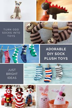 You remember making sock puppets as a kid right? Well now it's time to pass down the fun with these adorable sock plushies and toys you can make with your own children!