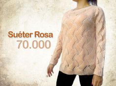 Suéter rosa manga larga $70.000