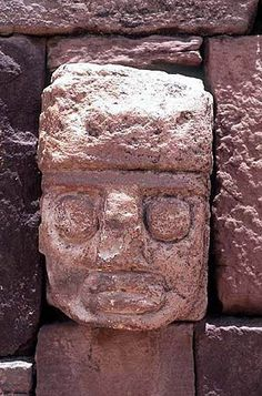 'Heavens Eyes' in the temple wall in Tiwanacu, Bolivia (former Peru). These heads might refer to different returns of our most famous comet.