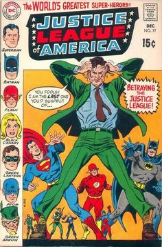 DC Comics Justice League of America - Condition is VF/VF- Murphy Anderson Cover *The photo(s) featured in this listing are scanned images o Dc Comic Books, Comic Book Covers, Comic Book Characters, Comic Book Heroes, Comic Character, Comic Art, Silver Age Comics, Black Green Lantern, Superman