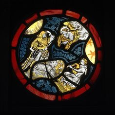 The Annunciation to the Shepherds Stained glass panel England About 1340 Medieval Stained Glass, Stained Glass Church, Stained Glass Angel, Stained Glass Paint, Leaded Glass Windows, Glass Panels, Mosaic Glass, Glass Art, The Shepherd