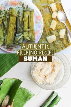 Suman Malagkit steamed in banana leaves is a delicious Filipino snack or dessert usually eaten with mangoes in the summer or dipped in tsokolate in the winter. This rice recipe is so easy to make and filling. Give this a try!