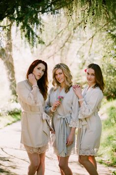 3 knee length robes in faux crepe de chine silk por SingingSlowly
