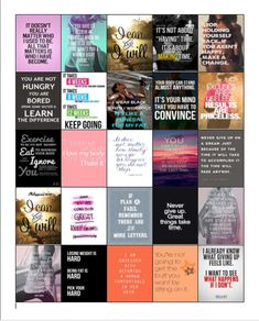 Motivational Work Out/Weightloss Quotes Stickers for Erin Condren Planners