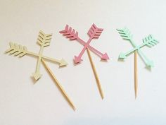 Boho tribal party cupcake toppers arrows by AliceAnnLondon on Etsy