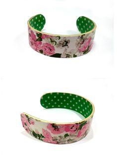 washitape...popsicle stick bracelets. Floral washitape.