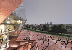 Construction of the Museum of the Second World War in Gdańsk Nears Completion,Exterior Rendered View. Image Courtesy of Museum of the Second World War Salvador Dali Museum, Auditorium Architecture, Museum Architecture, Museum Plan, New Museum, Seoul, Building Museum, Render Image, Construction
