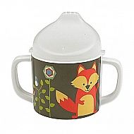The What Did the Fox Eat? Sippy Cup lets imaginations run further, wondering what did the fox drink? The BPA-free sippy lid is simple to remove when kids are ready to drink from a cup or to use as a snack holder.