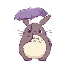 Little Totoro, created by Miyazaki, under the umbrella. It's a nice mobile phone Wallpapers Cute Kawaii Drawings, Cute Animal Drawings, Animes Wallpapers, Cute Wallpapers, Phone Wallpapers, Anime Chibi, Anime Art, Fotos Do Pokemon, Totoro Drawing