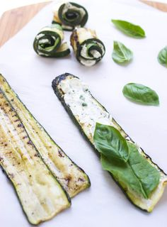 Grilled Herb and Cheese Zucchini Roll-Ups - Little Broken Vegetarian Grilling, Healthy Grilling, Vegetarian Recipes Dinner, Healthy Eating Recipes, Grilling Recipes, Veggie Recipes, Veggie Food, Barbecue Recipes, Barbecue Sauce