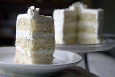 Lavender layer cake with lemon cream!
