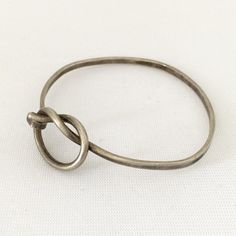 Vintage Sterling Silver Bangle Bracelet 7'' by wandajewelry2013