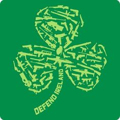 Funny Saint Patrick's Day T-Shirt (Defend Ireland Clover)