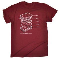 123t USA Men's BLT Sandwich Funny T-Shirt
