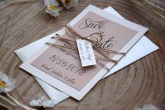 Save the Date Wedding Cards  Elegant Wedding by PaperStudioByC