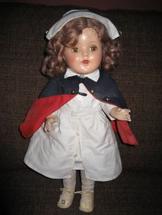 Vintage nurse doll by CKsCrowsNest on Etsy, $190.00