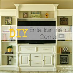Pneumatic Addict Furniture: DIY Entertainment Center - brown unit painted white
