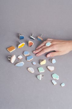 Holiday Sale 20% off Rounded aqua ceramic ring One por NogaBerman