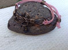 Pulsera Sueño el Flor Rosa / Hecho a mano by Selene, bracelet