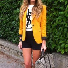 Zara blazer Soft mustard yellow Zara blazer. Worn 3 or 4 times, but in great condition. Zara Jackets & Coats Blazers