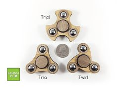 IN STOCK ready to ship! Fidget spinners are meant as a relaxing toy that help you focus by keeping your hands busy. These are laser cut and made of 100% real Amber Bamboo and walnut. IT features free spinning 1/2 balls for extra fidgeting. Hybrid Ceramic bearing standard. The bearings are cleaned before shipping to ensure a smooth spin. Specifications: -The spin diameter: 2.35 -Weight: 42g