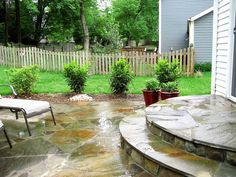 Love the big steps out to the flagstone patio (Patio Step)