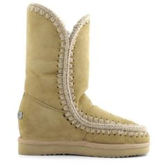MOU Eskimo Wedge Tall Boots Women Tan - MOU (279€→209€) #CyberMondayDeals #Cyber Monday #Christmas