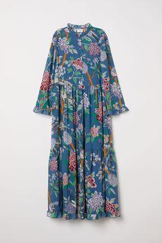 17211d9141 GP J Baker for H M Blue Floral Maxi Dress Floral Maxi Dress