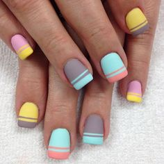 """My love for pastel and baby colours. Just paste it on me and let me enjoy ❤️"" Photo taken by @professionalnailss on Instagram, pinned via the InstaPin iOS App! http://www.instapinapp.com (03/23/2016)"