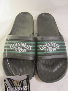 GUINNESS Harp 1759 Irish Beer Slides Flip Flops XL 12 13 Rubber Sandals Beach   #Guinness #Slides
