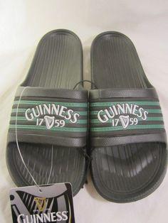 GUINNESS Harp 1759 Irish Beer Slides Flip Flops XL 12 13 Rubber Sandals Beach   #Guinness #Slides