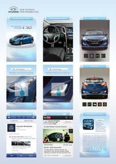 Hyundai i30 User Manual - Mobile App Project by ART COON, via Behance